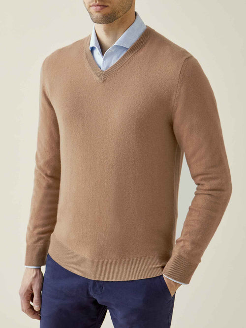Fudge Pure Cashmere V Neck