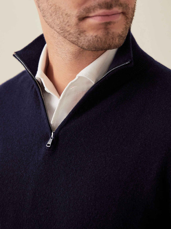 Luca Faloni Luca Faloni Forest Green Pure Cashmere Zip-up Made in Italy Made in Italy