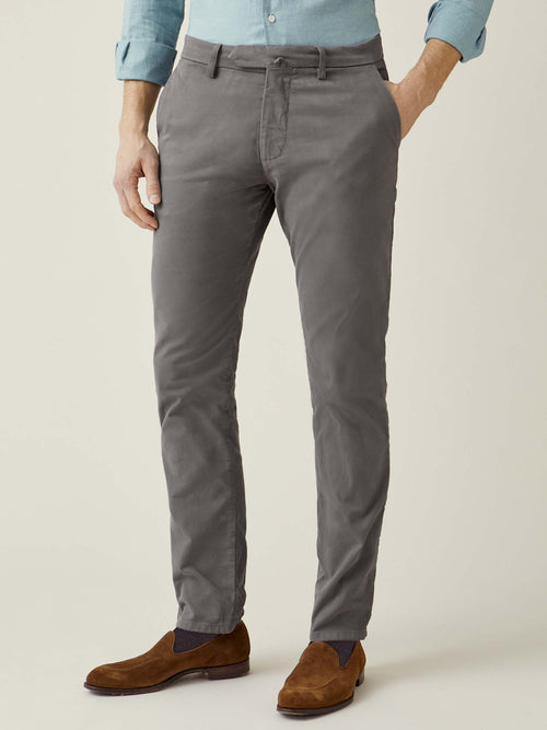 Luca Faloni Elephant Grey Cortina Winter Chinos Made in Italy