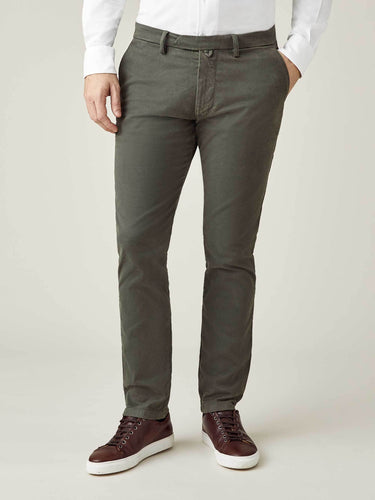 Luca Faloni Alpine Green Cortina Winter Chinos Made in Italy