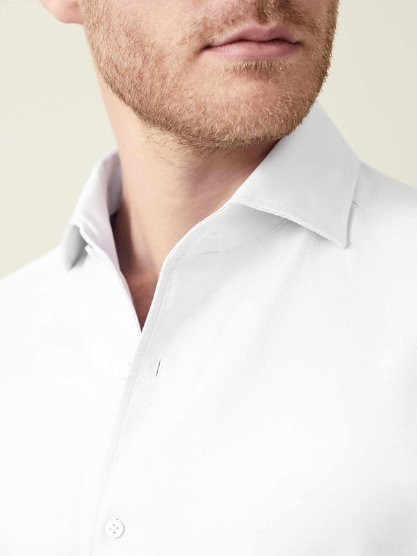 Luca Faloni White Oxford Cotton Shirt Made in Italy