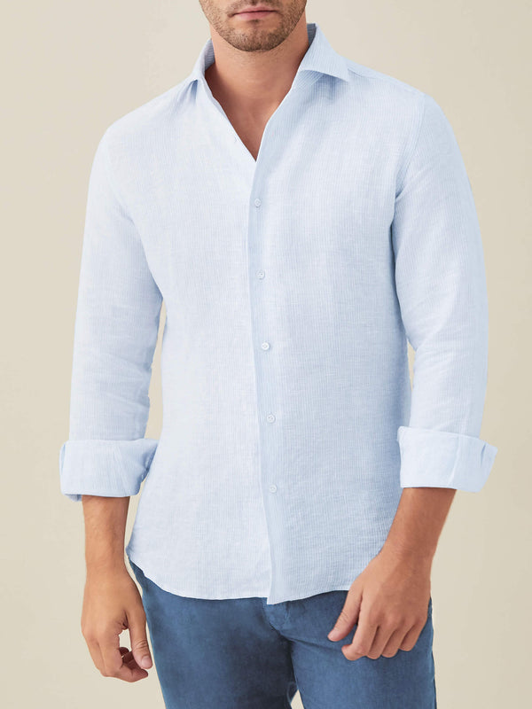Striped Portofino Linen Shirt