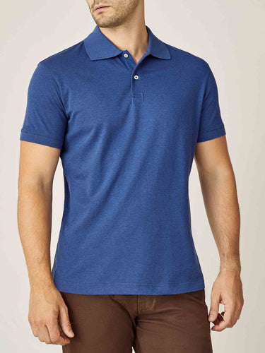 Luca Faloni Royal Blue Short Sleeved Polo Made in Italy