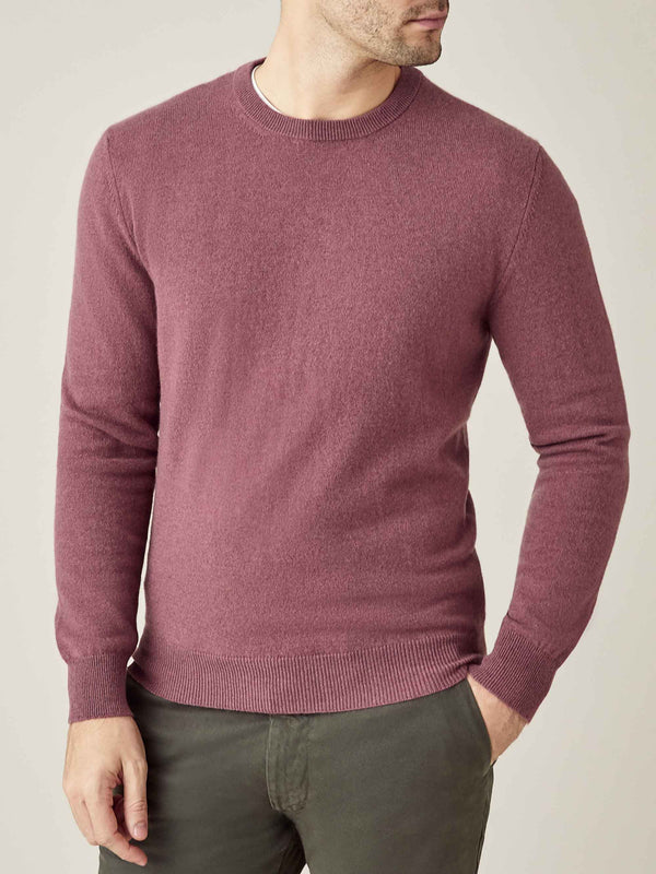Luca Faloni Desert Rose Pure Cashmere Crew Neck Made in Italy