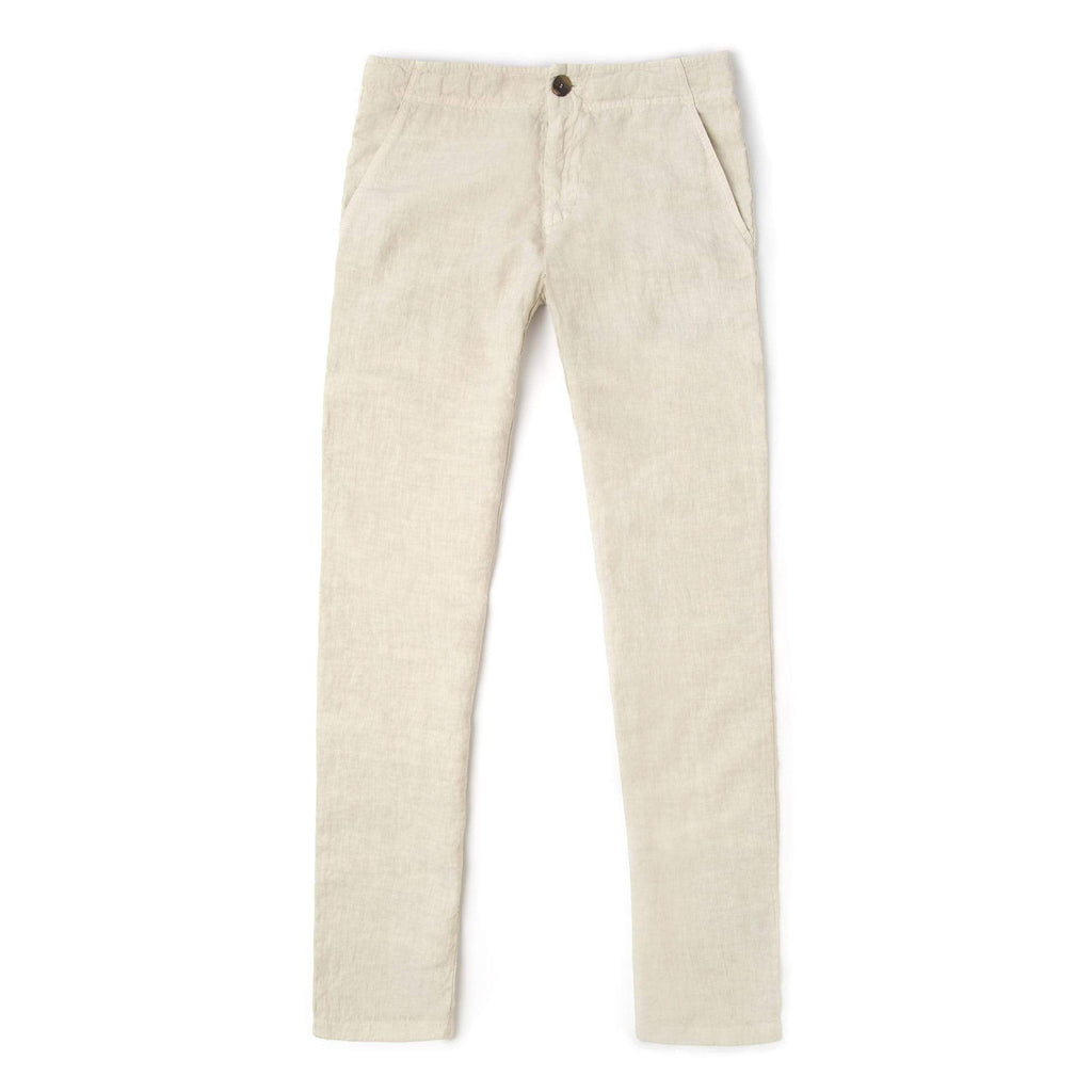 Luca Faloni Beige Linen Trousers Made in Italy