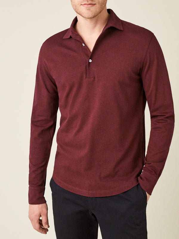 Luca Faloni Lava Red Brera Polo Shirt Made in Italy