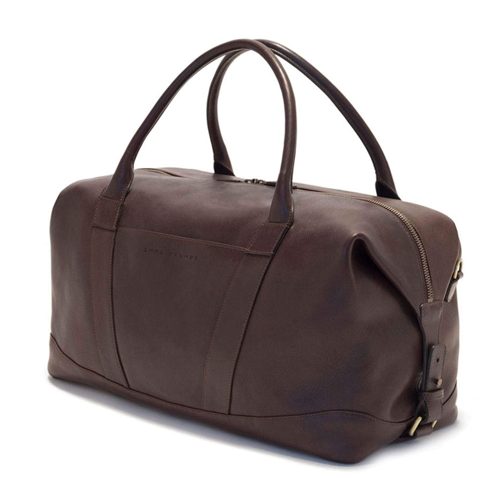 Luca Faloni Chocolate Brown Weekender Travel Bag Made in Italy