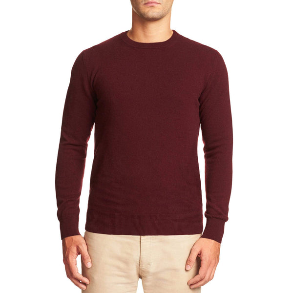 Luca Faloni Lava Red Pure Cashmere Crew Neck Made in Italy