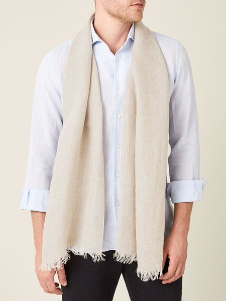 Sand Linen Scarf