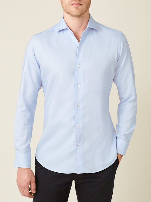 Luca Faloni Light Blue Oxford Cotton Shirt Made in Italy