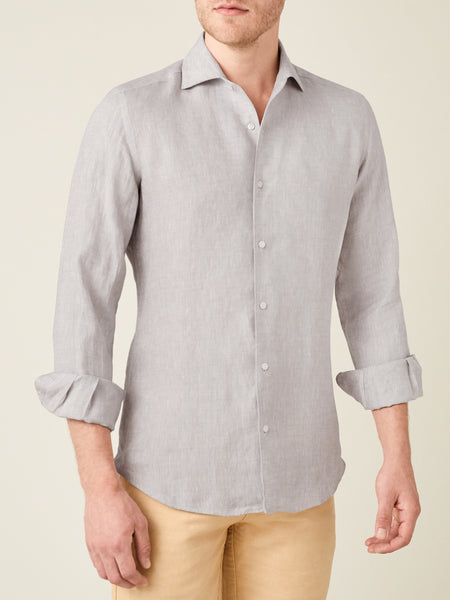 Light Grey Portofino Linen Shirt