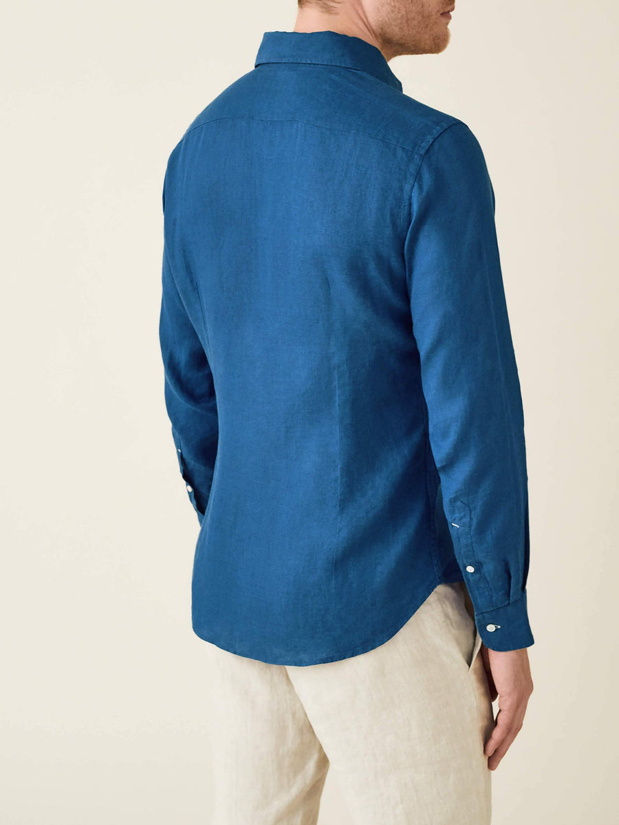 4dc4c2e8 Royal Blue Classic Linen Shirt - Made in Italy, Timeless Style – Luca Faloni