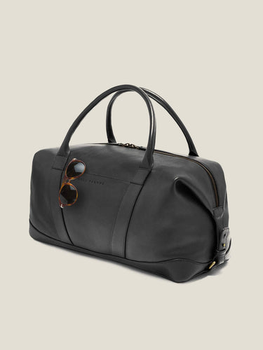 Luca Faloni Etna Black Weekender Made in Italy