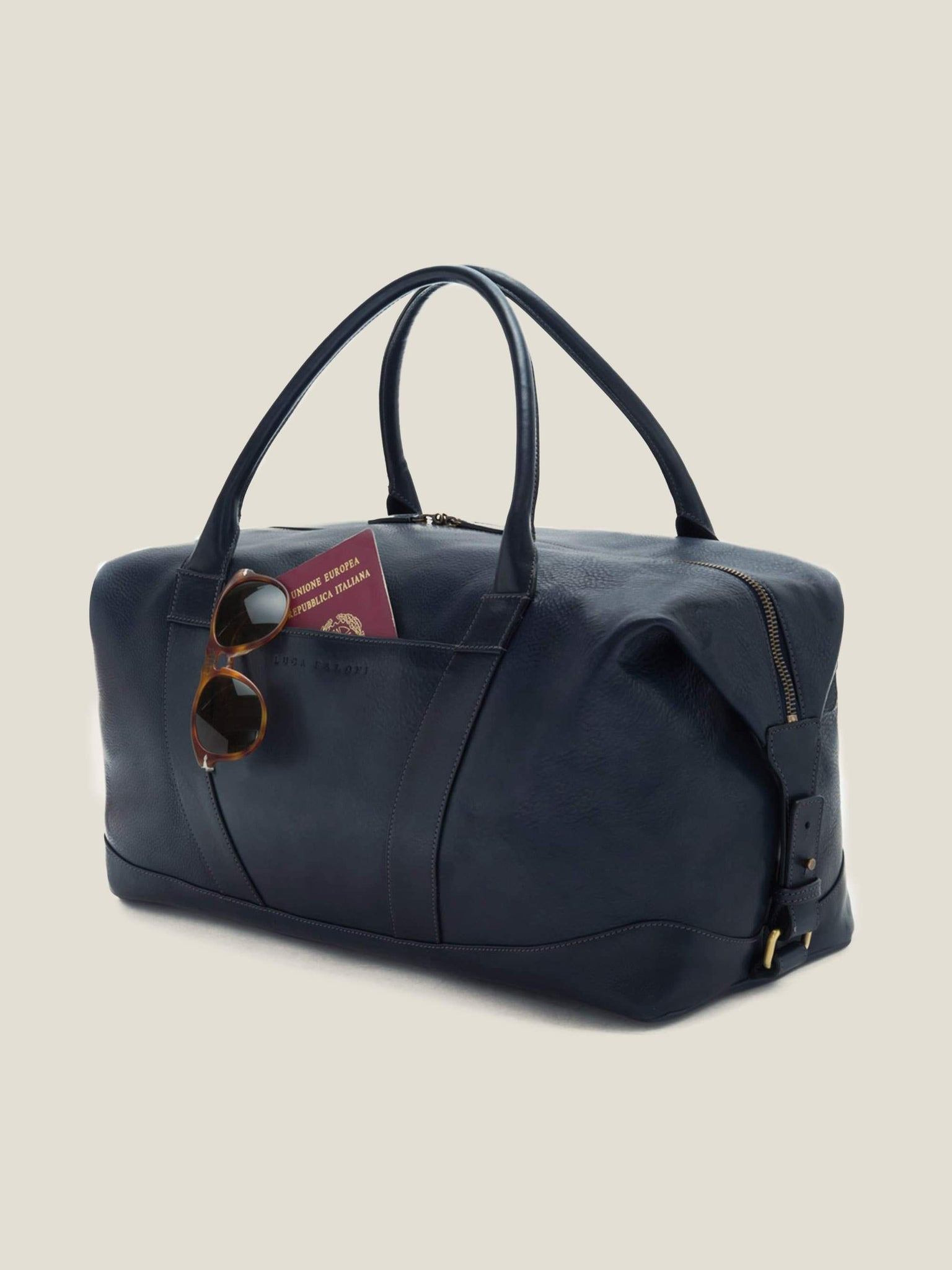 892d47691729 Ink Blue Weekender - Crafted in Italy | Luca Faloni