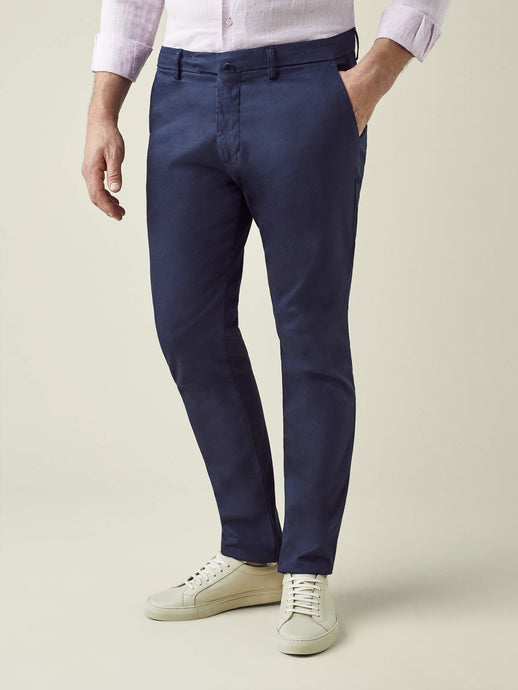 Navy Blue Lightweight Cotton Chinos