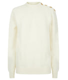 TROY Buttoned Boyfriend Jumper in cream