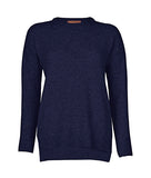 Drop Shoulder Jumper in Navy