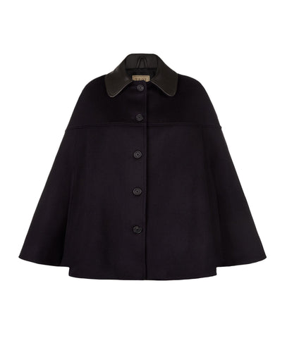 The Curlew Cape in Navy
