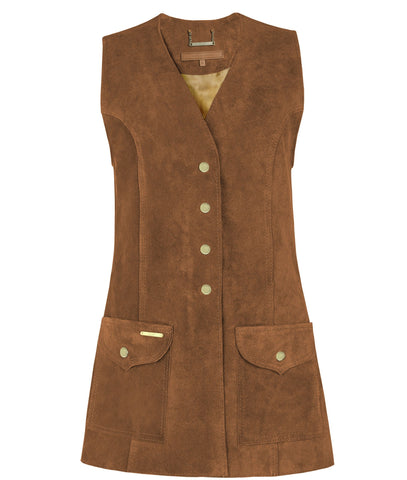 Dawn Gilet in Tan