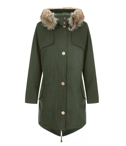 Front view of the TROY Fairweather Parka