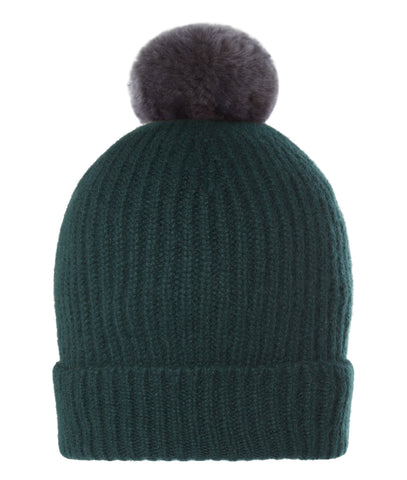Rex Pom-Pom Hat in Bottle Green