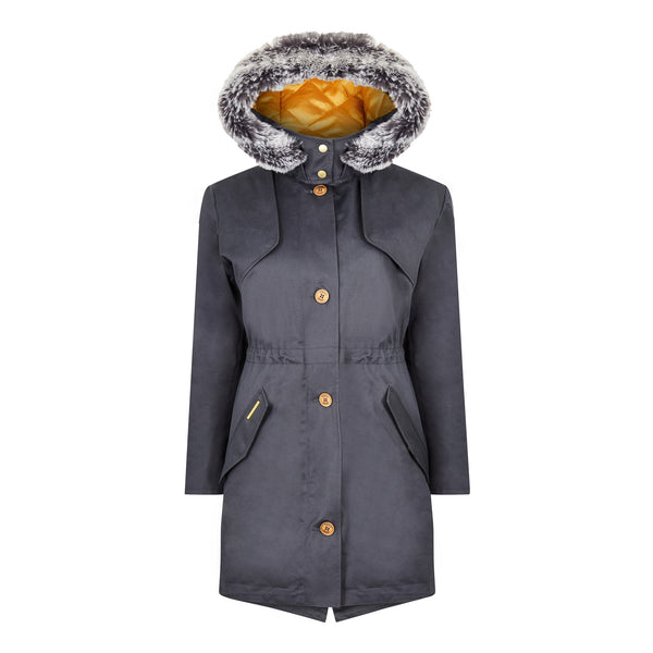 The Fairweather Parka in Blue - Faux