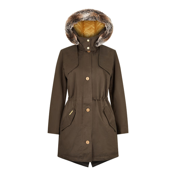 The Fairweather Parka in Olive - Faux
