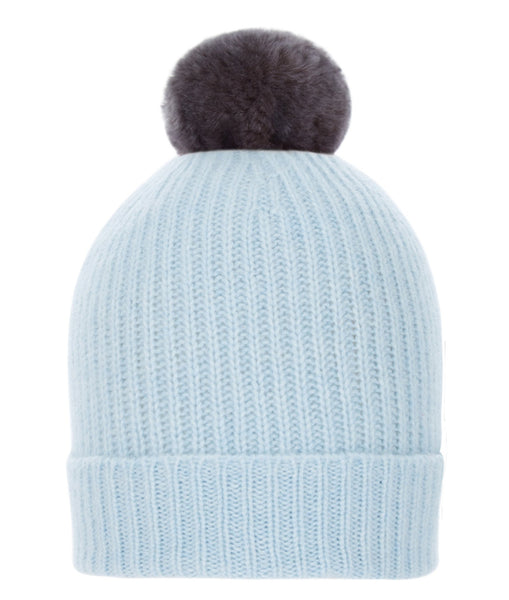 Rex Pom-Pom Hat in Sky Blue