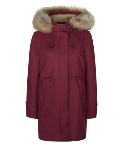 TROY Parka in Cranberry