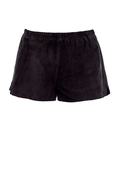Suede Shorts in Black