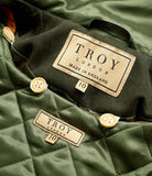 Close up of the label inside the TROY Fairweather Parka