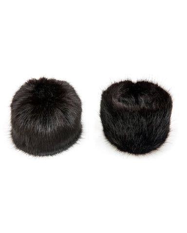 Accessories - Faux Fur Cuffs In Black