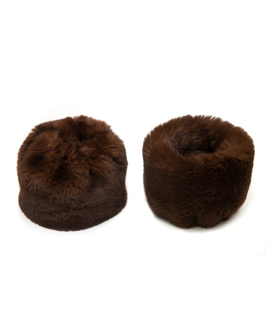 Accessories - Faux Fur Cuffs In Chocolate