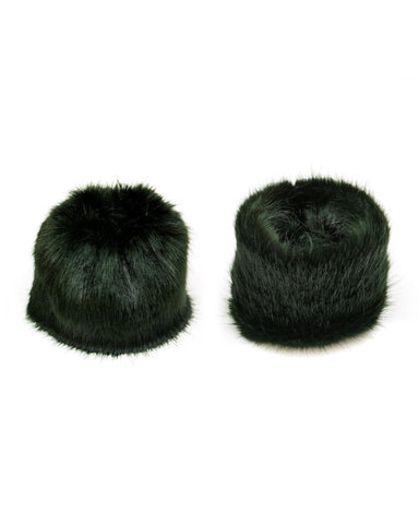 Accessories - Faux Fur Cuffs In Forest Green