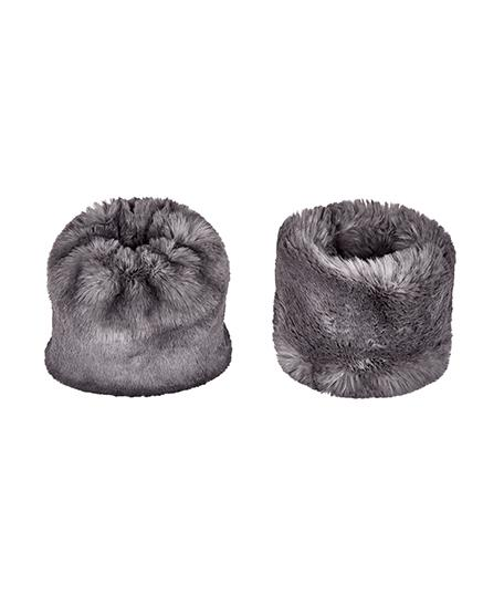 Accessories - Faux Fur Cuffs In Grey