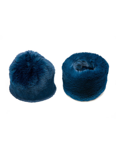 Accessories - Faux Fur Cuffs In Teal