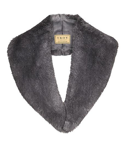 Accessories - Faux Fur Lapel Collar In Grey