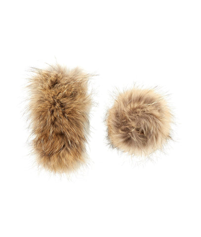 Accessories - Raccoon Fur Wrist Snaps