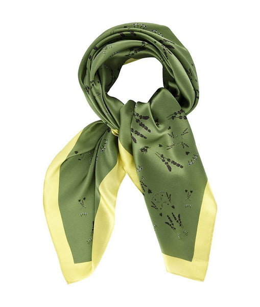 Accessories - Silk Scarf In Green & Gold
