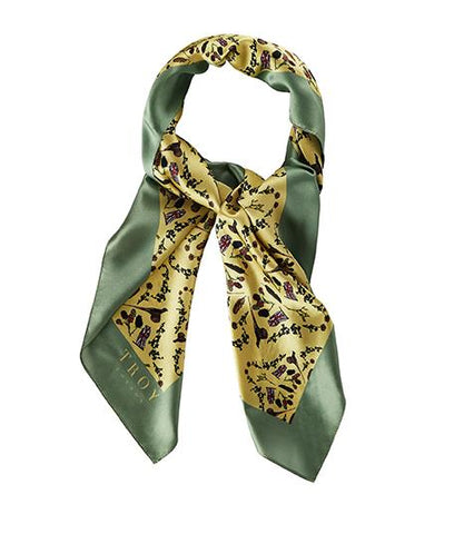 Accessories - Silk Scarf In Sand & Sage