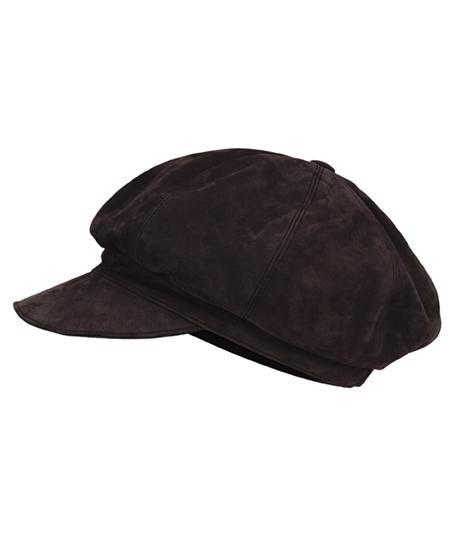 Accessories - Suede Baker's Hat In Chocolate