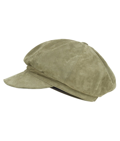 Accessories - Suede Baker's Hat In Olive Green