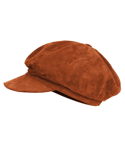 Accessories - Suede Baker's Hat In Tan