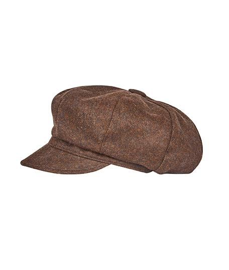 Accessories - Tweed Baker's Hat In Cocoa