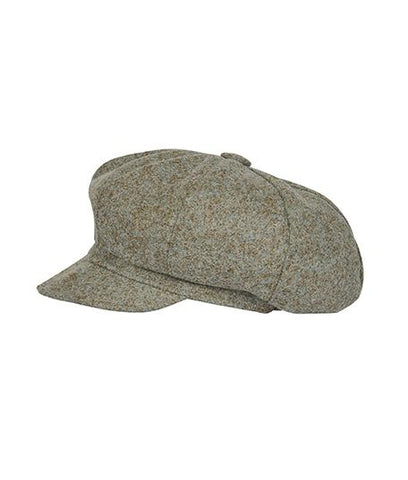 Accessories - Tweed Baker's Hat In Sea Green
