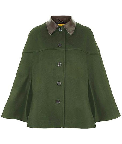 Cape - The Curlew Cape In Forest Green