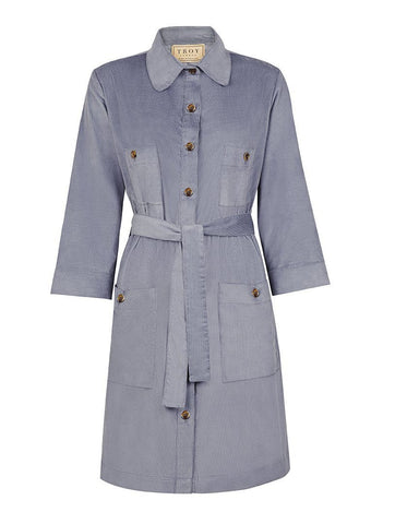 Dress - Utility Dress In Sky Grey