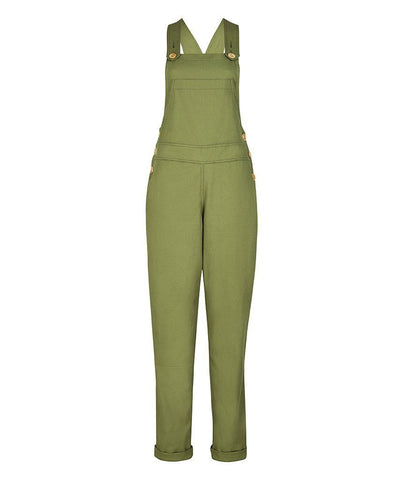 Dungarees - TROY Long Dungarees In Fern