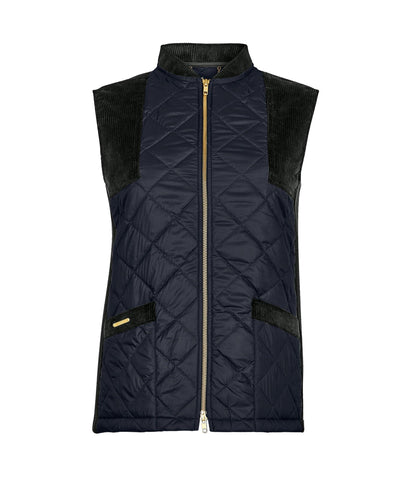 Gilet - Country Quilted Gilet In Navy