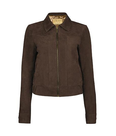 Jacket - Suede Bomber Jacket In Chocolate
